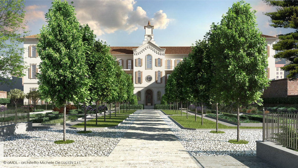 Horti_Render Villa e giardino storico