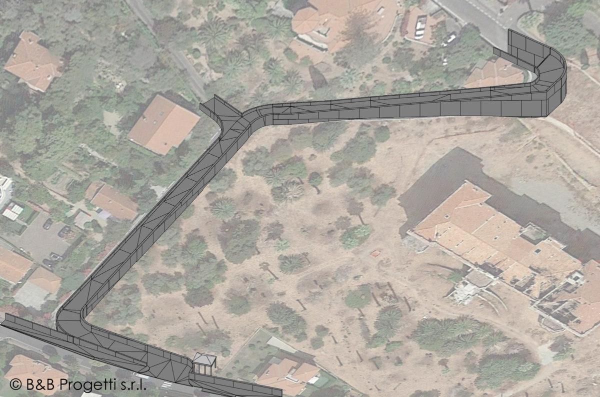 Via Coggiola_modellazione della strada esistente
