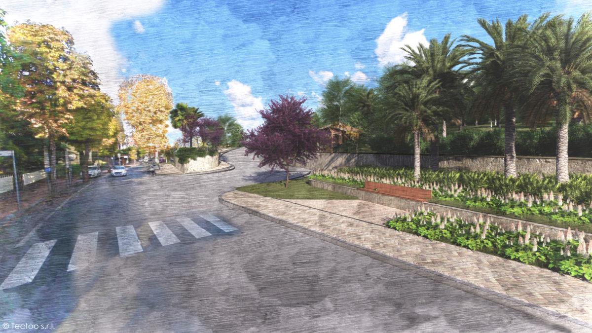 Via Coggiola_vista termine strada stato di progetto